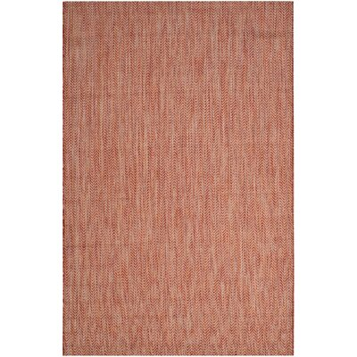 Mullen Red / Beige Indoor/Outdoor Area Rug Rug Size: Rectangle 27 x 5