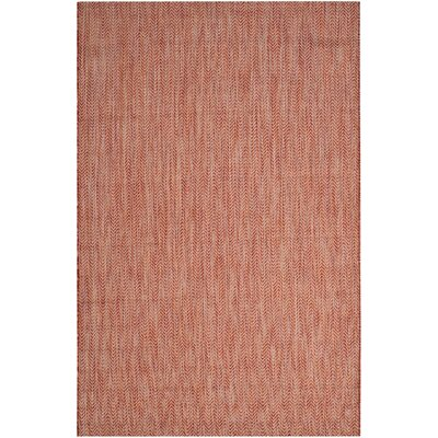 Mullen Red / Beige Indoor/Outdoor Area Rug Rug Size: 53 x 77
