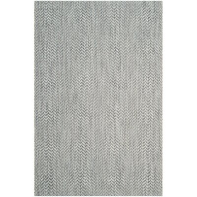 Mullen Gray / Navy Indoor/Outdoor Area Rug Rug Size: Rectangle 4 x 57
