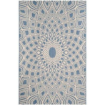 Estella Blue/Beige Indoor/Outdoor Area Rug Rug Size: 8 x 11