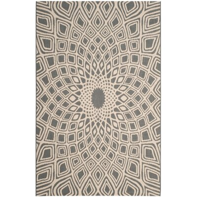 Estella Anthracite/Beige Indoor/Outdoor Area Rug Rug Size: 8 x 11