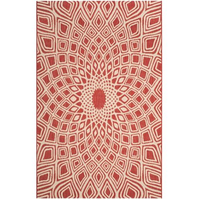 Estella Red/Beige Indoor/Outdoor Area Rug Rug Size: 2 x 37