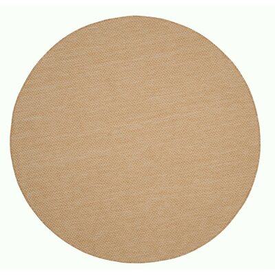 Mullen Solid Natural/Cream Indoor/Outdoor Area Rug Rug Size: Round 67
