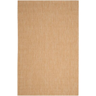 Mullen Solid Natural/Cream Indoor/Outdoor Area Rug Rug Size: 53 x 77
