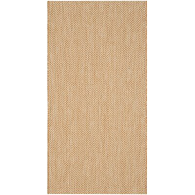 Estella Natural/Cream Indoor/Outdoor Area Rug Rug Size: 4 x 57