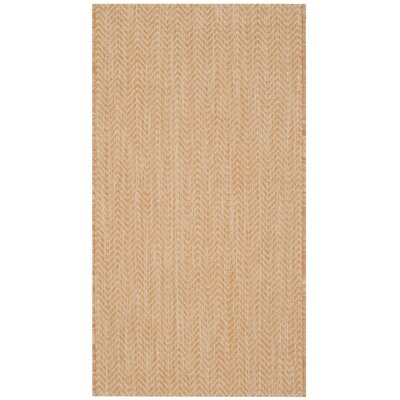 Estella Natural/Cream Indoor/Outdoor Area Rug Rug Size: 2 x 37