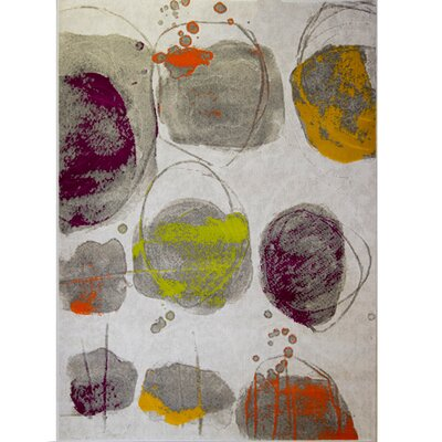Tricia White Area Rug Rug Size: Rectangle 52 x 72