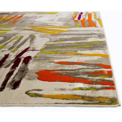 Tricia Gray Area Rug Rug Size: 27 x 66