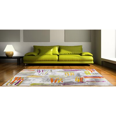 Tricia Gray Area Rug Rug Size: Rectangle 710 x 102