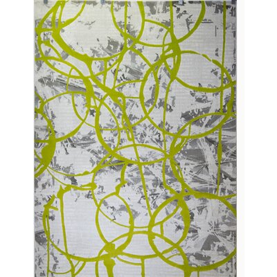 Tricia Green/Gray Area Rug Rug Size: Rectangle 710 x 102