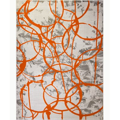 Tricia Orange/Gray Area Rug Rug Size: 710 x 102
