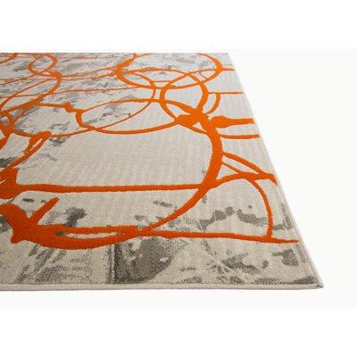 Tricia Orange/Gray Area Rug Rug Size: 27 x 66