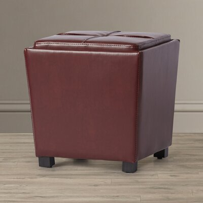 Jared 2-Piece Leather Ottoman Set Upholstery: Red