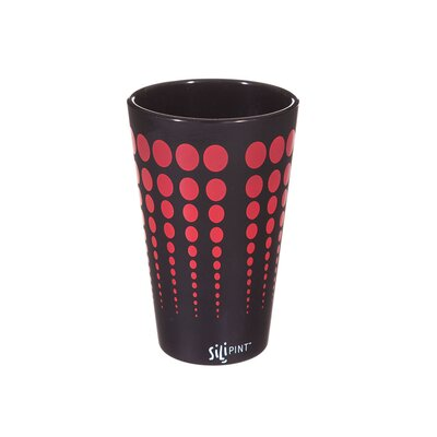 Cayden Silipint Water/Juice Glass Color: Black / Red EBND7133 41035628