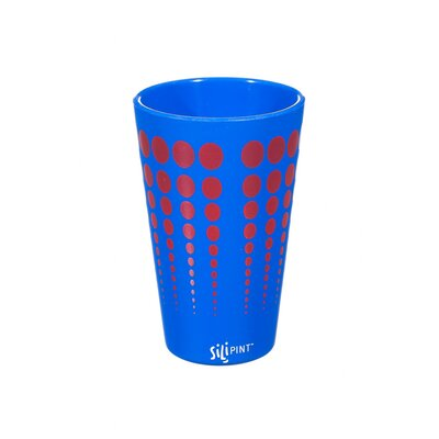Cayden Silipint Water/Juice Glass Color: Blue / Red EBND7133 41035642