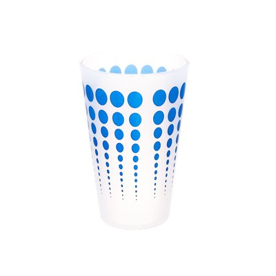Cayden Silipint Water/Juice Glass 16 oz. Plastic Color: White / Blue EBND7133 41035644