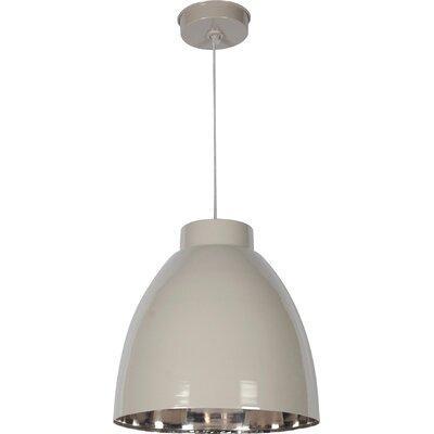 Vera 1-Light Mini Pendant Finish: Taupe/Nickel