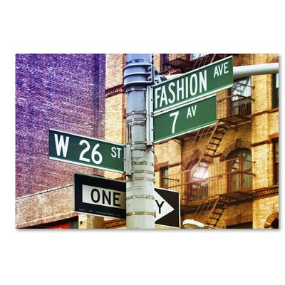 'Fashion Avenue New York' Photographic Print on Wrapped Canvas Size: 12