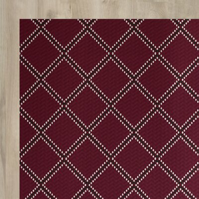 Red Indoor/Outdoor Area Rug Rug Size: 4 x 6