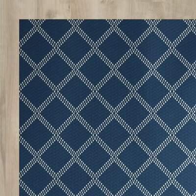 Bernadette Geometric Blue Indoor/Outdoor Area Rug Rug Size: 5 x 7