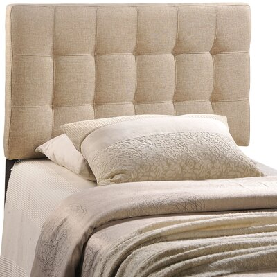 Francis Upholstered Panel Headboard Upholstery: Gray, Size: Twin