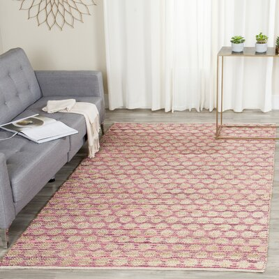 Arverne Maroon/Natural Area Rug Rug Size: Rectangle 6 X 9
