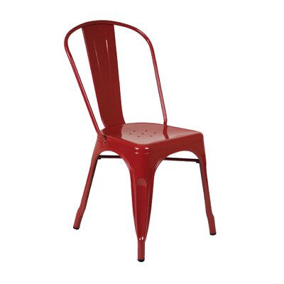 Louisa Dining Chair Color: Red