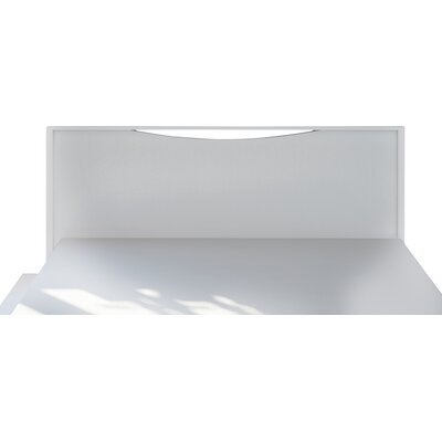 Lorraine Full/Queen Panel Headboard Finish: White-Wash Wood Grain