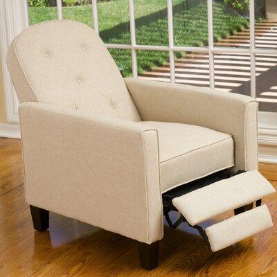 Josephine Tufted Recliner Upholstery: Dark Beige