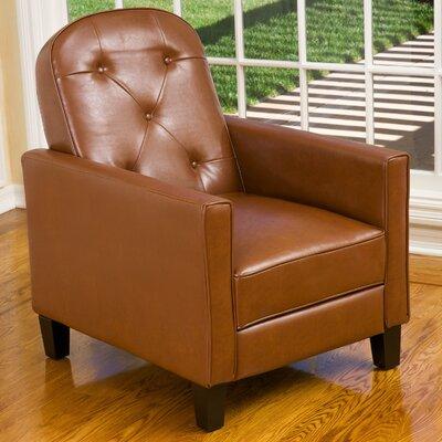 Emily Tufted Recliner Upholstery: Hazelnut