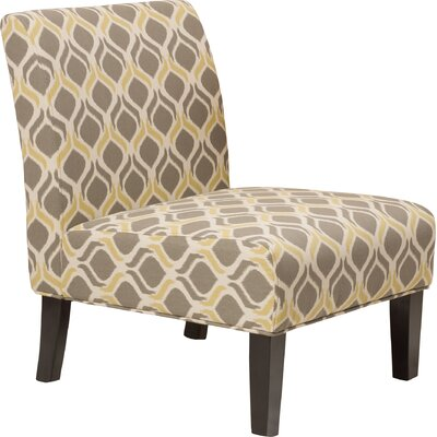Bentley Slipper Chair Color: Yellow and gray