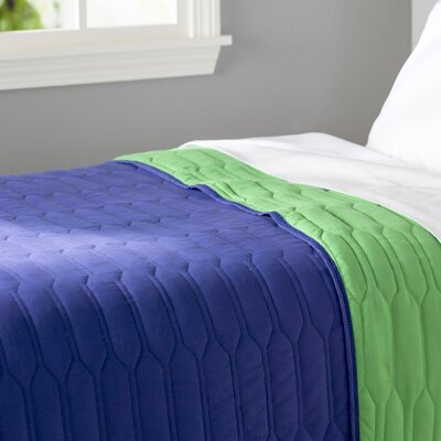 Robin Reversible Quilt Color: Blue / Green, Size: Twin