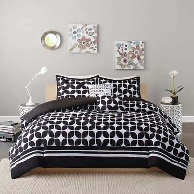 Young Duvet Cover Set Size: Twin/Twin XL, Color: Black