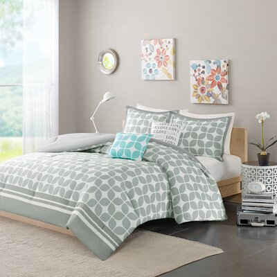 Young Comforter Set Size: Full / Queen, Color: Gray