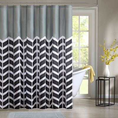 Willard Shower Curtain Color: Gray