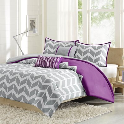 Willard Duvet Cover Set Size: Twin / Twin XL, Color: Gray