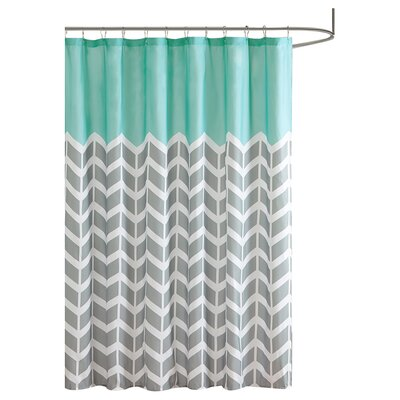 Zakary Shower Curtain Color: Teal