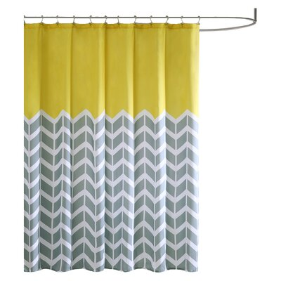 Zakary Shower Curtain Color: Yellow