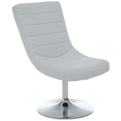 Oberg Swivel Lounge Chair and Ottoman Upholstery: White