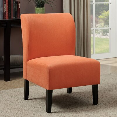Reedsport Contemporary Slipper Chair Upholstery: Orange