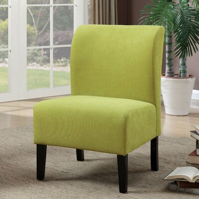 Reedsport Contemporary Slipper Chair Upholstery: Green