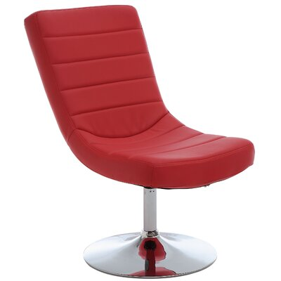 Oberg Swivel Lounge Chair and Ottoman Upholstery: Red