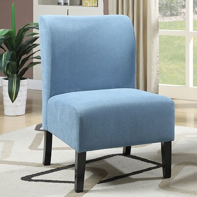 Reedsport Contemporary Slipper Chair Upholstery: Blue