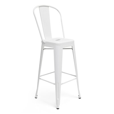Louisa 30 Bar Stool Upholstery: White