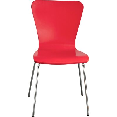 Francesca Solid Wood Dining Chair Finish: Red