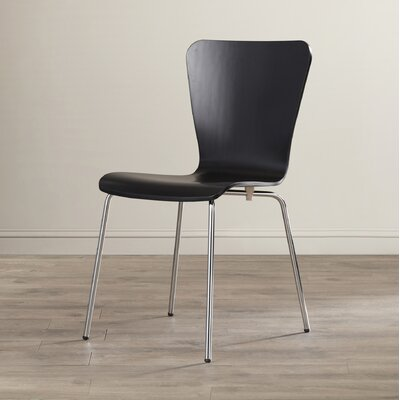 Francesca Solid Wood Dining Chair Finish: Black