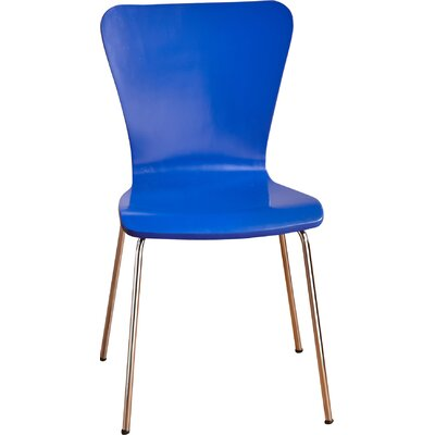 Francesca Solid Wood Dining Chair Finish: Blue