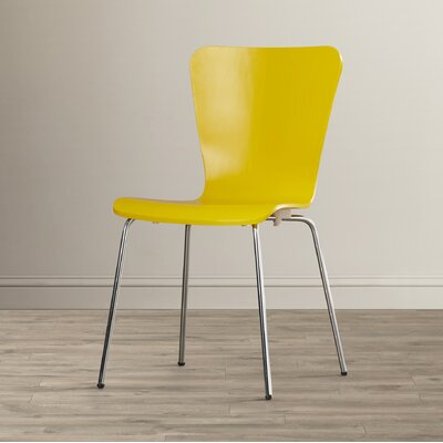 Francesca Solid Wood Dining Chair Finish: Yellow
