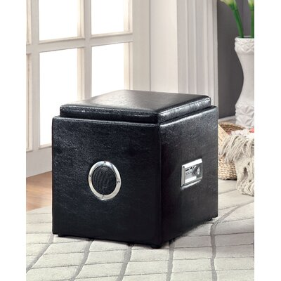 Waller Storage Ottoman Upholstery: Black