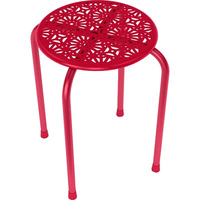Caitlin End Table Color: Red